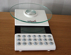 Kitchen scale, electronic, household scale
